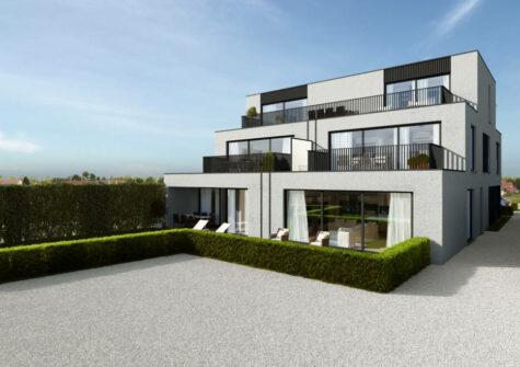Ruim gelijkvloers appartement met zonnig terras en tuin