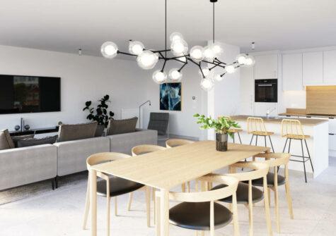 Modern appartement op de eerste verdieping met zuidgericht terras